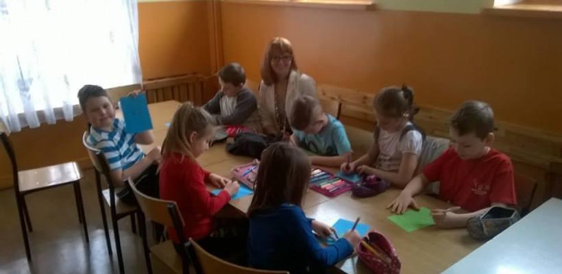 Małusy Wielkie w Gminie Mstów, warsztaty z dziećmi, 18 lutego